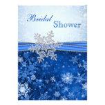 Blanco, plata, ducha nupcial de los copos de nieve anuncios personalizados