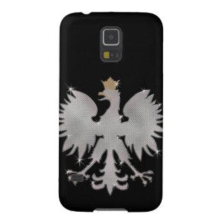 Blanco polaco Eagle de Bling Carcasa Para Galaxy S5