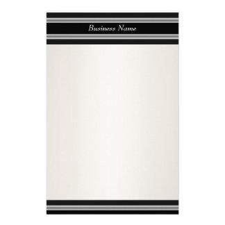 Blanco poner crema negro de los efectos de escrito papeleria personalizada