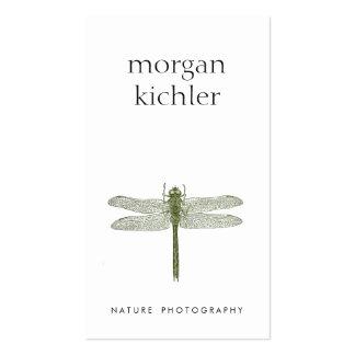 Blanco profesional de la naturaleza verde simple tarjetas de visita