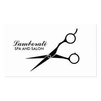 Blanco profesional del peluquero del estilista del tarjetas de negocios