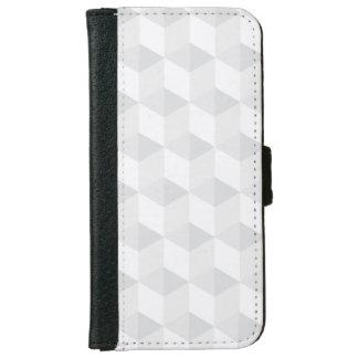 blanco puro, geometría, diseño gráfico, moderno, funda cartera para iPhone 6