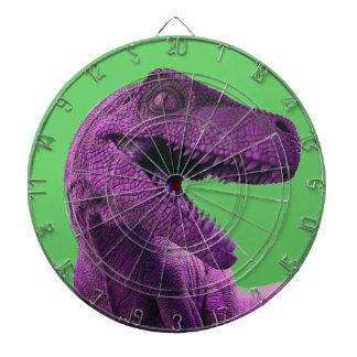 Blanco púrpura del dinosaurio tablero dardos