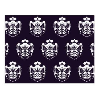 Blanco púrpura del escudo de la familia postal