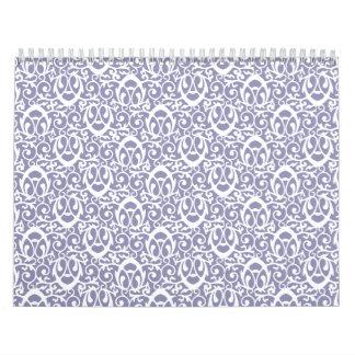 Blanco púrpura del modelo barroco calendario