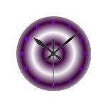 Blanco púrpura relojes