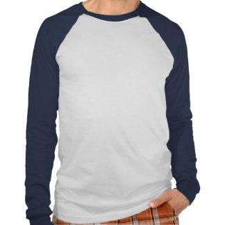 Blanco raglán largo básico de la manga de la marin camiseta