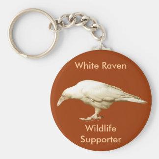 ~ blanco raro 2010 del cuervo llaveros personalizados