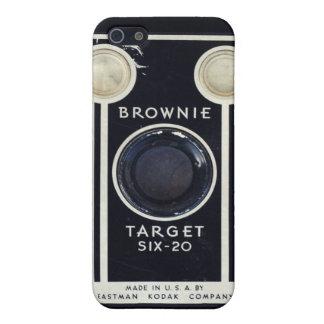 Blanco retra del brownie de Kodak de la cámara iPhone 5 Funda