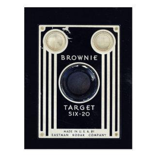 Blanco retra del brownie de la cámara postal