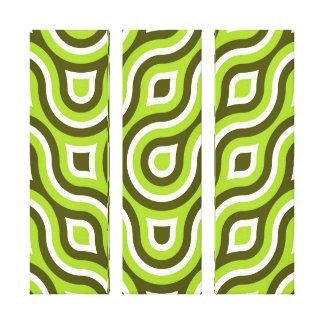 Blanco retro de la verde lima del modelo del círcu impresiones en lienzo estiradas