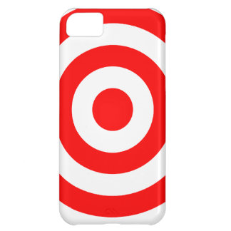 Blanco roja de la diana carcasa para iPhone 5C