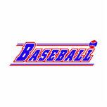 Blanco rojo blue.png del logotipo del béisbol esculturas fotograficas