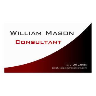 Blanco rojo curvado, tarjeta de visita profesional