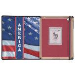 Blanco rojo de Amercia y azul patrióticos iPad Fundas
