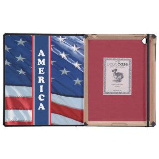 Blanco rojo de Amercia y azul patrióticos