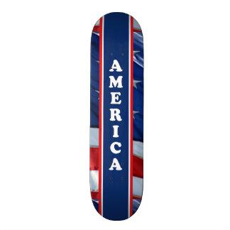 Blanco rojo de Amercia y azul patrióticos Patín Personalizado