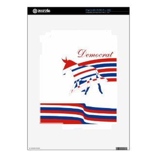 Blanco rojo de Demócrata y azul políticos iPad 2 Calcomanía