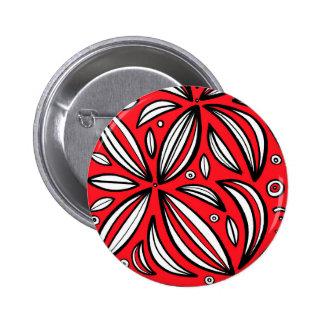 Blanco rojo de la expresión abstracta de Bair Pin Redondo 5 Cm