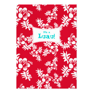 Blanco rojo de la flor del hibisco de la invitació anuncios