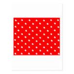 Blanco rojo de las estrellas los regalos de Zazzle Tarjeta Postal