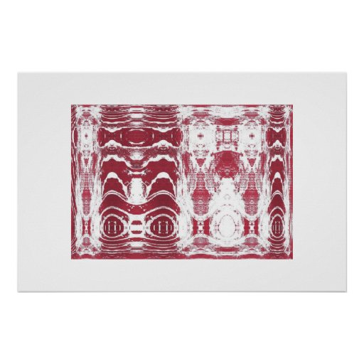Blanco rojo de Thorb Posters