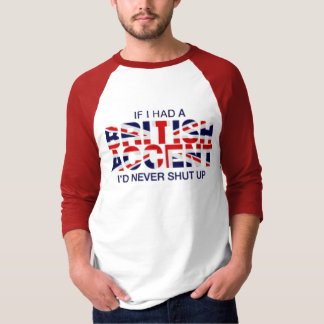 Blanco rojo del acento del raglán británico de la camisas