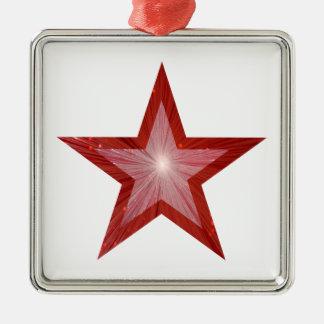 Blanco rojo del cuadrado del ornamento de la ornato