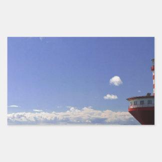 Blanco rojo del día especial del faro del agua rectangular altavoz