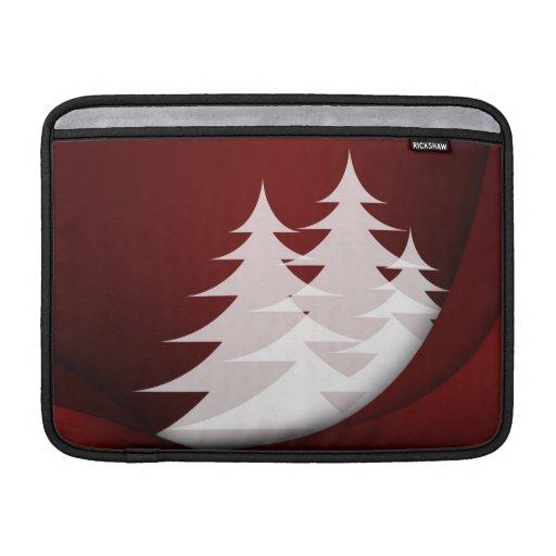 Blanco rojo del diseño del extracto del árbol de n fundas macbook air
