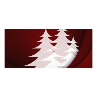 Blanco rojo del diseño del extracto del árbol de n tarjeta publicitaria personalizada