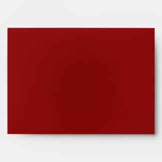 blanco rojo del exterior del sobre 5x7 dentro