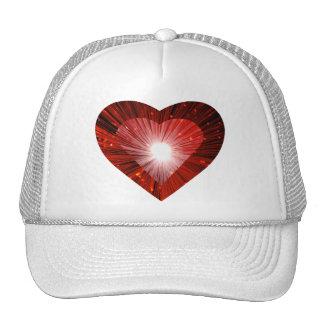 """Blanco rojo del gorra del camionero del """"corazón"""""""