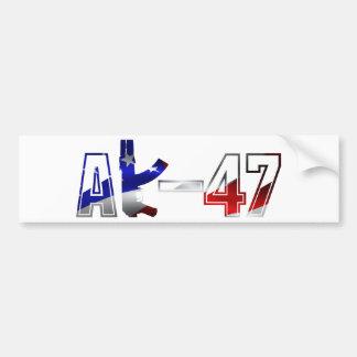 Blanco rojo del logotipo del rifle de asalto de AK Pegatina Para Auto