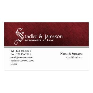 Blanco rojo del monograma masculino llano plantilla de tarjeta de negocio