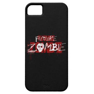 Blanco rojo del zombi futuro iPhone 5 funda