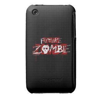 Blanco rojo del zombi futuro Case-Mate iPhone 3 fundas