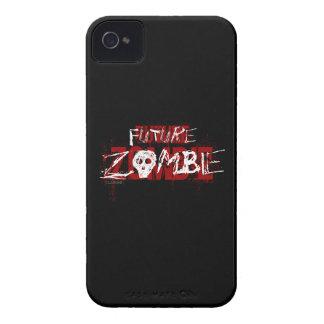 Blanco rojo del zombi futuro iPhone 4 cárcasas