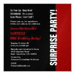 Blanco rojo negro moderno del cumpleaños del año comunicados personales