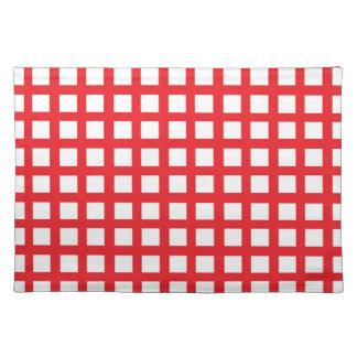 Blanco rojo Placemat de la armadura Mantel