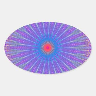 Blanco rojo púrpura del ornamento pegatina