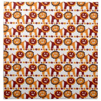 Blanco rojo y anaranjado lindo del modelo de la se servilletas de papel