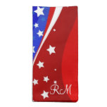 Blanco rojo y azul - barras y estrellas de la band servilleta imprimida