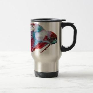 Blanco rojo y azul (los pescados despejan el taza de viaje