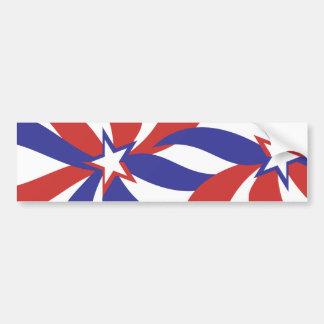 Blanco rojo y azul patrióticos pegatina para auto