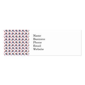 Blanco rojo y azul todo modelo americano tarjetas de visita mini