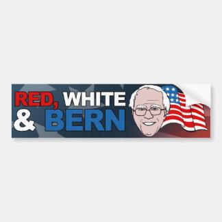 Blanco rojo y chorreadoras de Berna - de Bernie - Pegatina Para Auto