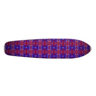 Blanco rojo y el azul remolina monopatín Oldschool Skateboards