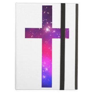 Blanco rosado de la cruz de las estrellas azules