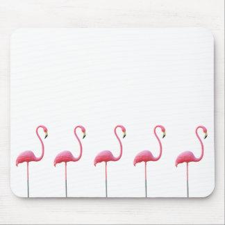 Blanco rosado de la estera del ratón del flamenco tapete de ratones